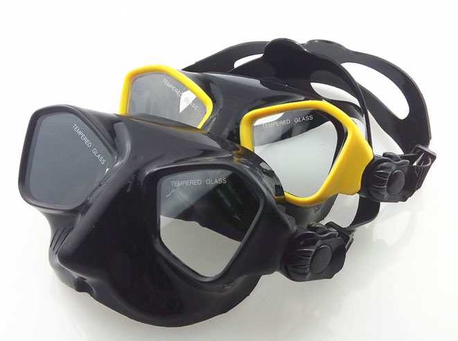 Extreme low volume spearfishing mask black silicon freediving mask top spearfishing and dive gears tempered scuba mask diving