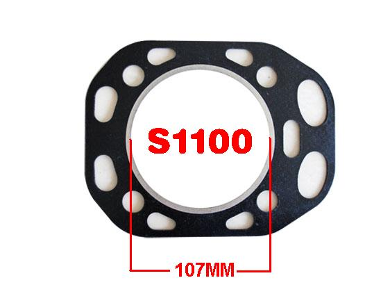 Free Shipping Diesel engine S1100 107MM Direct injection cylinder head Gasket suit for Changchai Changfa Jiangdong and so on