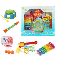 5 PCS suit Baby bath toy Water spraying tool Playing water Joyful bathing Fishing Piano Drum Basketball bathroom / beach toys