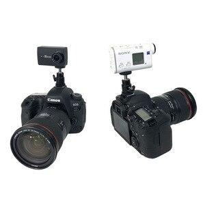 Image 5 - 1/4 pouces Hot chaussure montage trépied monture adaptateur pont pour Canon Nikon SONY SLR pour GoPro SJCAM Xiaomi Yi Action caméra accessoires