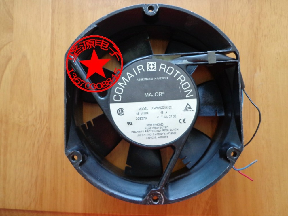 Emacro For Comair Rotron JQ48B3QDNX-E2 DC 48V 0.46A 150x170xmm Server Round Fan emacro for comair rotron pt2b3qdn server round fan ac 115v 30w 172x172x51mm