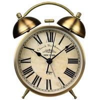 Hot Night Light Metal Vintage Alarm Clock Retro Table Alarm Clock Bedside Desktop Quartz Clock Movement Mechanism