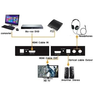 Image 5 - 1 قطعة HDMI إلى HDMI مستخرج الصوت 1080P الخائن البصرية SPDIF + RCA L/R مستخرج الصوت محول HDMI مقسم صوت