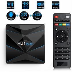 HK1 grać tv  pudełko z systemem Android 9.0 4GB 32G 64GB procesor Amlogic S905X2 Quad CoreSmart tv  pudełko 4K 2.4GHz 5GHz Wifi Bluetooth 4.0 Set-Top box