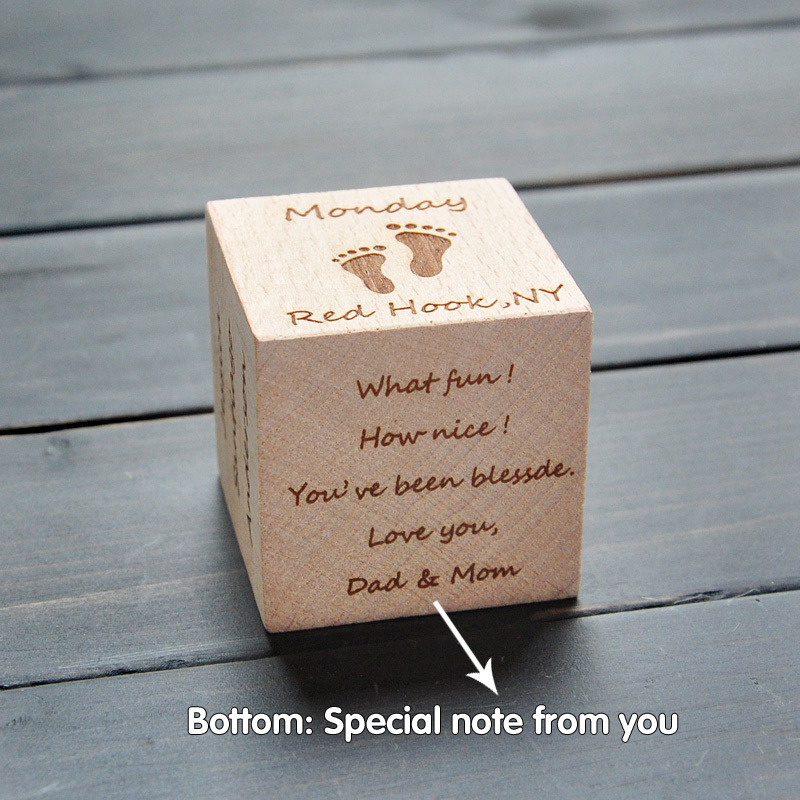 Verrassend Personalized Baby Block, Newborn Birthday Baptism Gift , Engraved PE-13