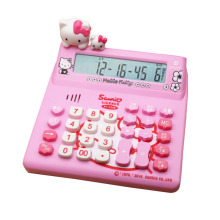 цена на Hello kitty cartoon solar calculator pink KT cat doll cute computer KT-520A