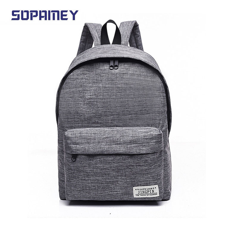 2017new Men And Women Canvas Backpacks Fashion Casual Teenager Girls School Bags Big Backpacks For College Students Mochila