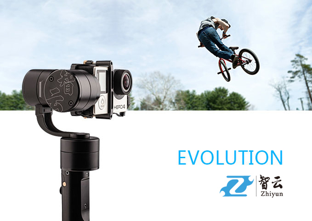 Official Zhiyun [Evolution] 3 Axis Brushless Handheld Camera Gimbal Stabilizer with joystick