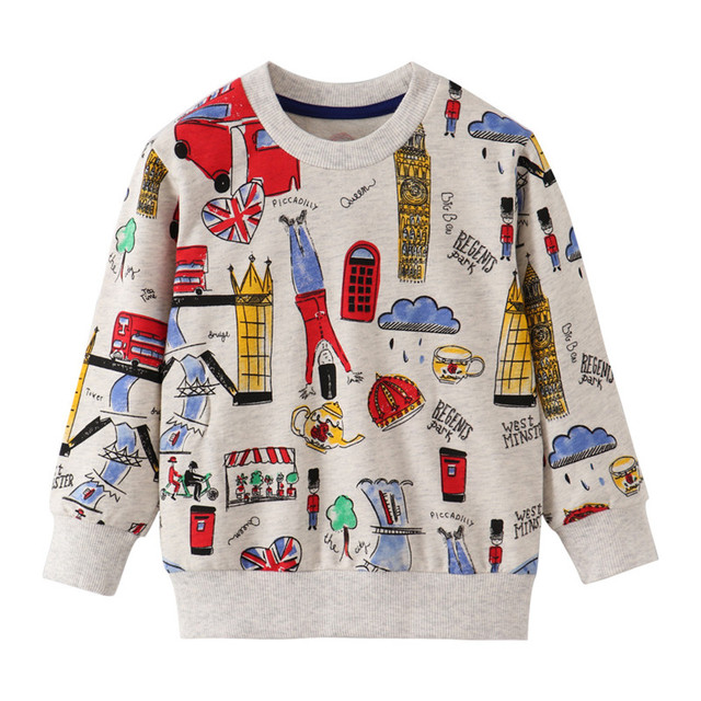 Jumping Meters New Stars Sweatshirts Baby Boys Girls Outwear Cotton Clothing Fashion Style Children Tops Autumn Spring Shirts 4