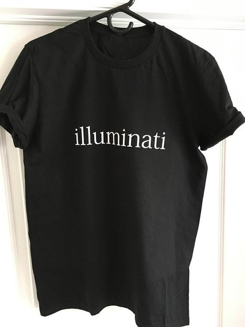 54a40b9bb Illuminati - T-Shirt Punk Unisex Graphic Tee Anarchy Shirt Design Teen  Grunge Life Death