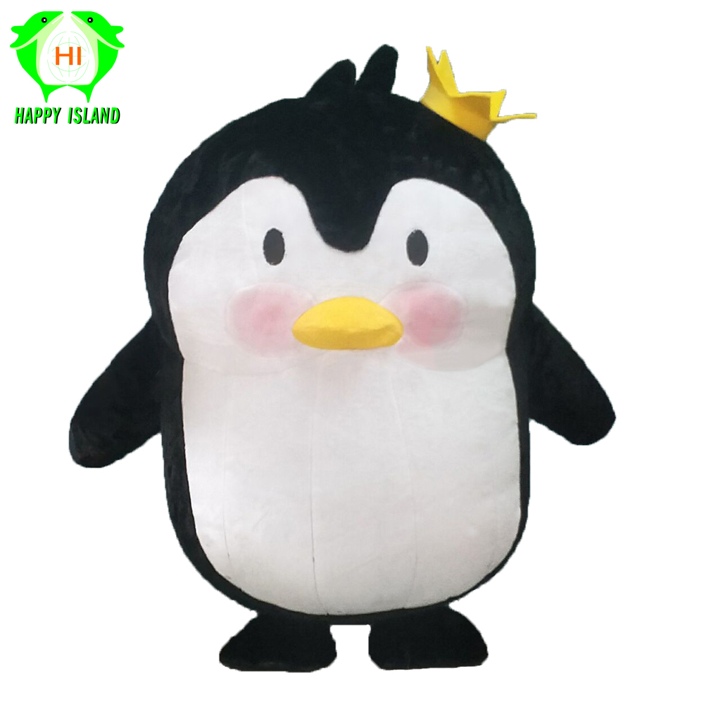 2019 New Inflatable Penguin Mascot Costume For Advertising 2.6M Tall Customize Performance Cartoon Costume For Adults