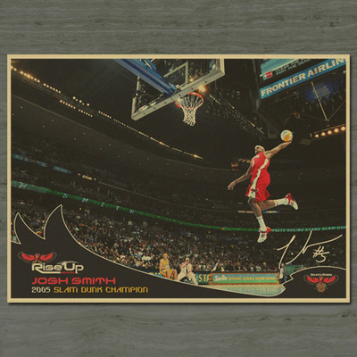 5e44400c1464 Large Vintage NBA Basketball Star Dunk Posters Home Decoration Detailed  Antique Poster Wall Chart Retro Matte Kraft Paper