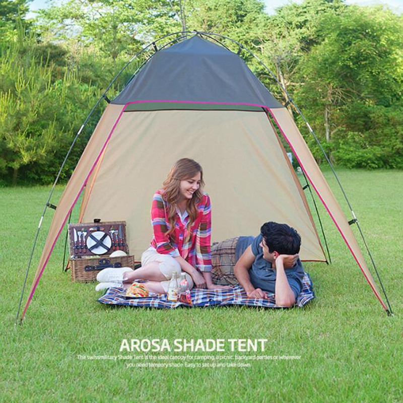 Image 2 - Poncho tent Parasol cover Outdoor Canopy Ultralight Tent Windwall Camping Awning Camping Picnic Beach Pergola-in Sun Shelter from Sports & Entertainment