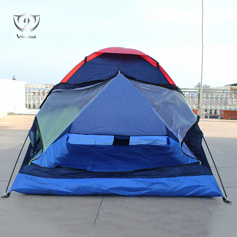 Wnnideo Outdoor Tent 2 Person Tent Camping Hiking Traveling Picnic Promotional Multi-functional Blue and Purple ZF5-252 dls m369