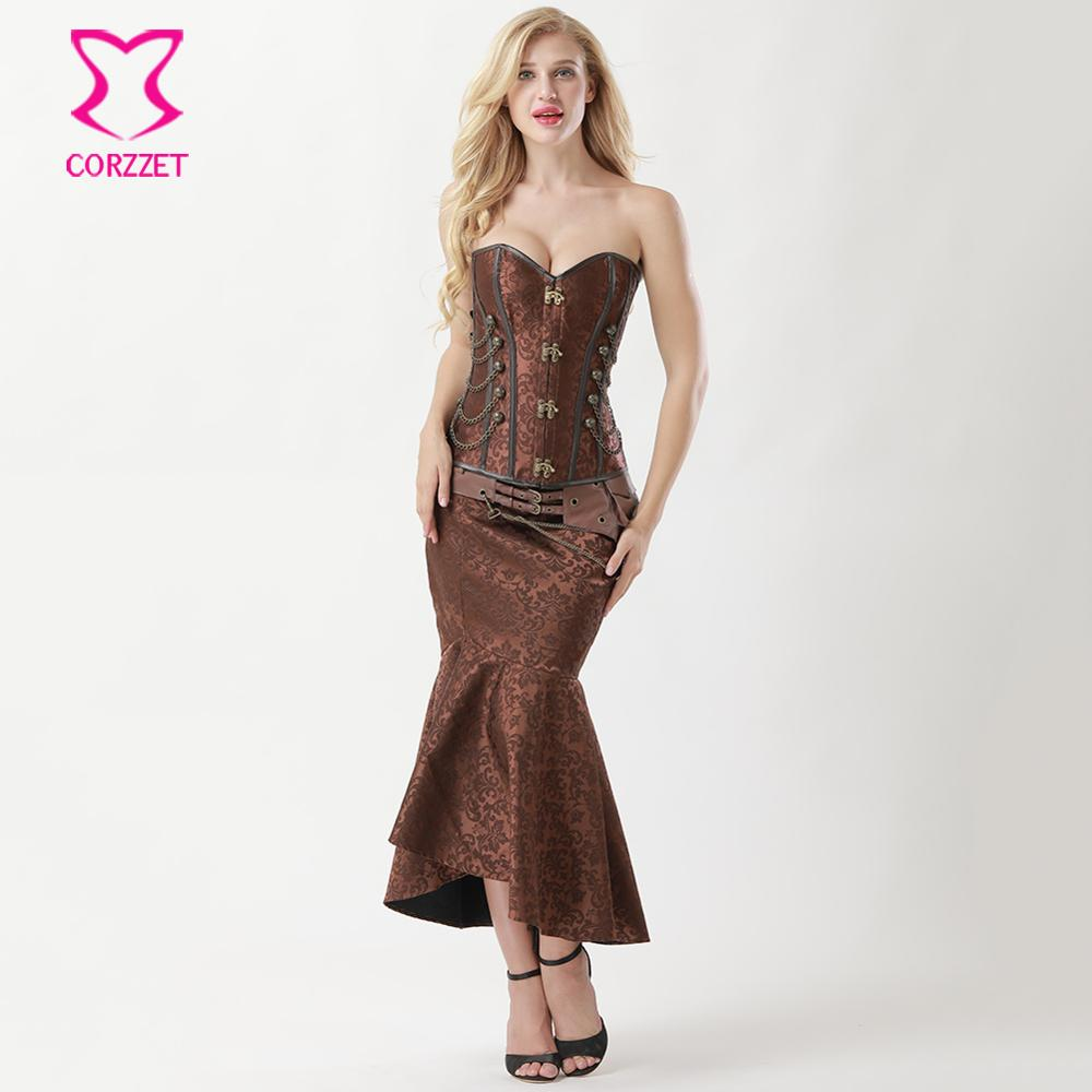 Womens Gothic Black Sequin Mermaid Corset INCLUDES CORSET ONLY