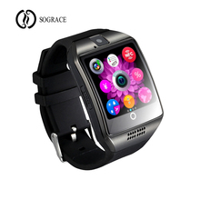 Купить с кэшбэком Bluetooth Smart Watch Q18 Men With Touch Screen Big Battery Support TF Sim Card Camera Passometer for Android Phone