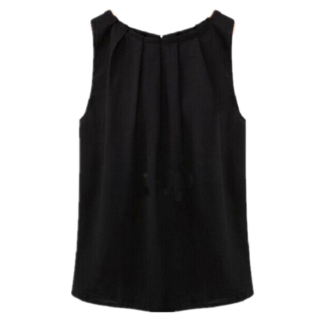 20178 Sommer Hemd Frauen Bambus Chiffon-sleeveless Rundhals Lose Weiß Schwarz Farbe T Shirt Damen Weste