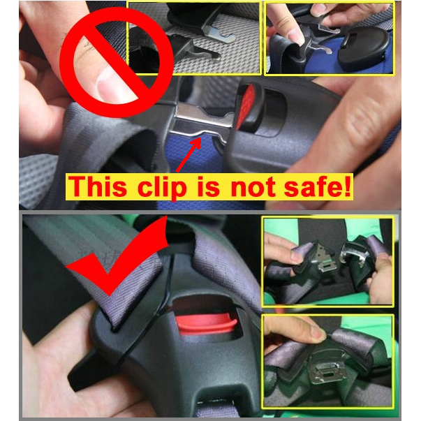 5 Point Harness Baby Car Seat Belt Buckle Safety Lock Clip With