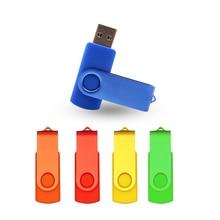 Over 10pcs Free Logo Newest Business Pen Drive Custom Logo USB Pendrive 4GB 8GB 16GB 32GB 64GB USB 2.0 Flash Drive Memory Stick