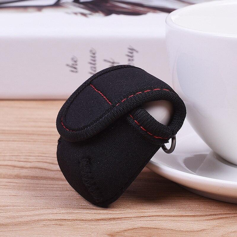 Black Neoprene Airpods Earphone Charging Box Cover Protect Case with D Headphone Hanging Lock Dust Waterproof