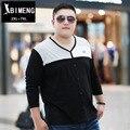 Beamon outono novo tamanho grande Camisa Dos Homens XL gordura gordura gordura V colar cor t-shirt dos homens moda maré vestido de manga comprida TX221A