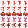 Sesame Street Elmo and Abby  Sticker ,Cupcake Toppers,Birthday Party Decorations kids Sticker Label for Birthday,Baby Shower
