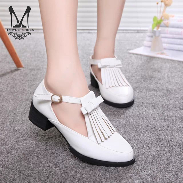 b47ca8cd90e6b New 2015 Women Oxfords Shoes For Ladies College Style Shoes Woman Tassel  Vintage Bow-knot Low-heeled Shoes Size 34-39 LX 901