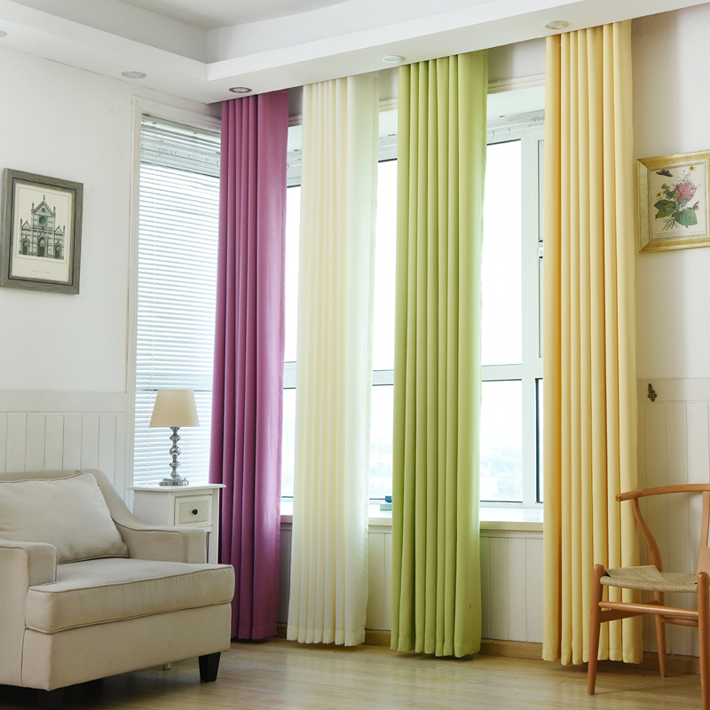 Urijk 1PC Sheer Curtains Velvet Linen Fabric Curtains For The Living Room  Multiple Color Semi