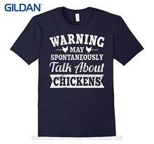 GILDAN Men Clothing Plus Size S M L Xl Xxl Funny Chickens Shirt : Cute Farm Animal Warning Talk About