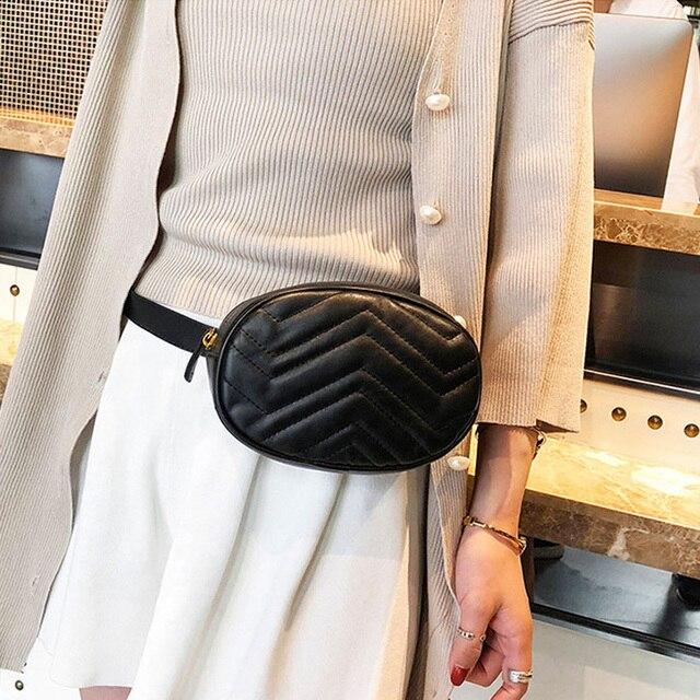 CCRXRQ Waist Bag For Women 2019 New Brand PU Leather Ladies Belt Bag Crossbody Chest Bags Fashion Fanny Pack Handy Belt Bum Bags