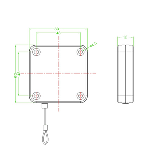 Image 5 - Claite 10pcs 3 meter 개폐식 자동 와이어 풀 박스 테이크 업 박스 HTC VIVE 브래킷 와인 더 VR 헤드 용 도난 방지 케이블