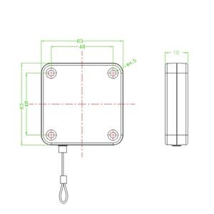 Image 5 - Claite 10pcs 3 מטר נשלף אוטומטי חוט למשוך תיבת לקחת up תיבה נגד גניבה כבל עבור HTC VIVE סוגר המותח VR ראש