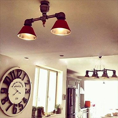 Luminaire Water Pipe Lamp Retro Loft Style Lampe Vintage Industrial Pendant Lighting Fixtures Iron Painting American Country