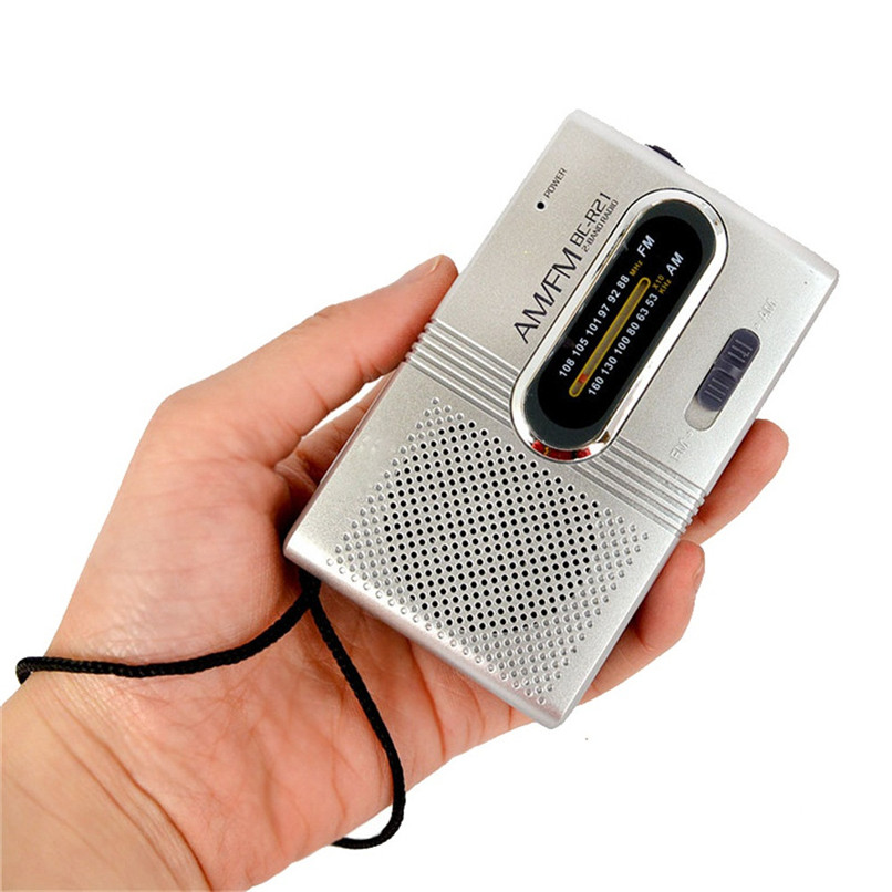 Mini Portable Pocket AM/FM Telescopic Antenna Radio World Receiver Powered Radio Free Shipping #F#40T02
