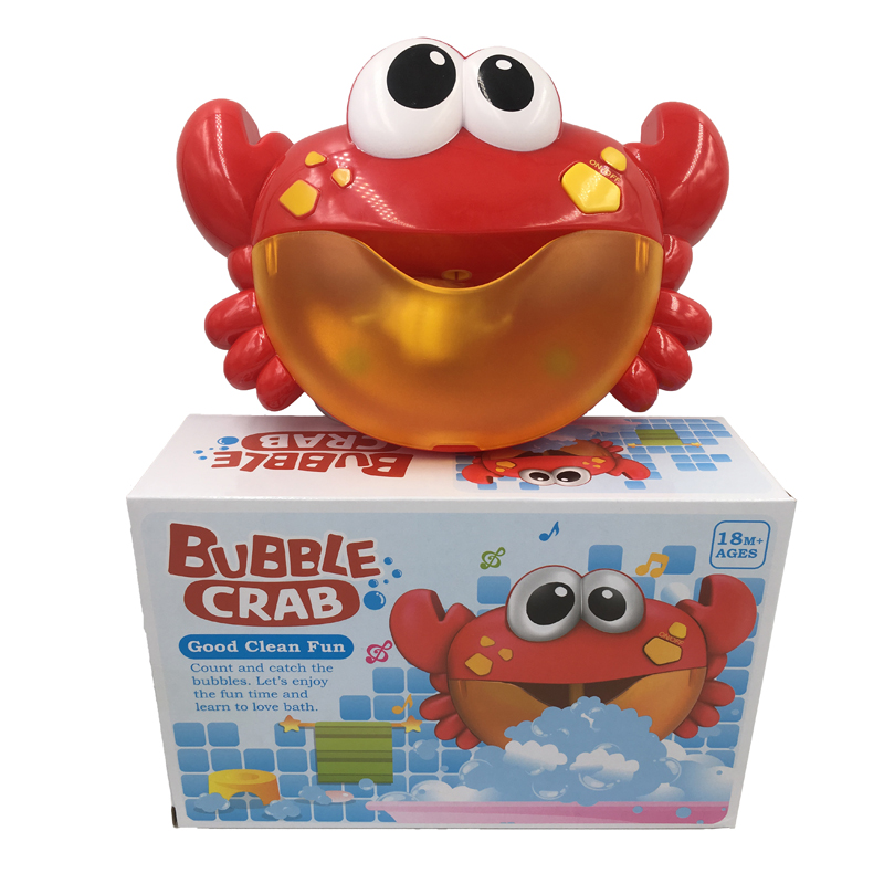 Bubble Crabs Funny Baby Bath Toys Music Bubble Maker Pool Swimming Bathtub Soap Machine Bathroom Toys For Children Kids