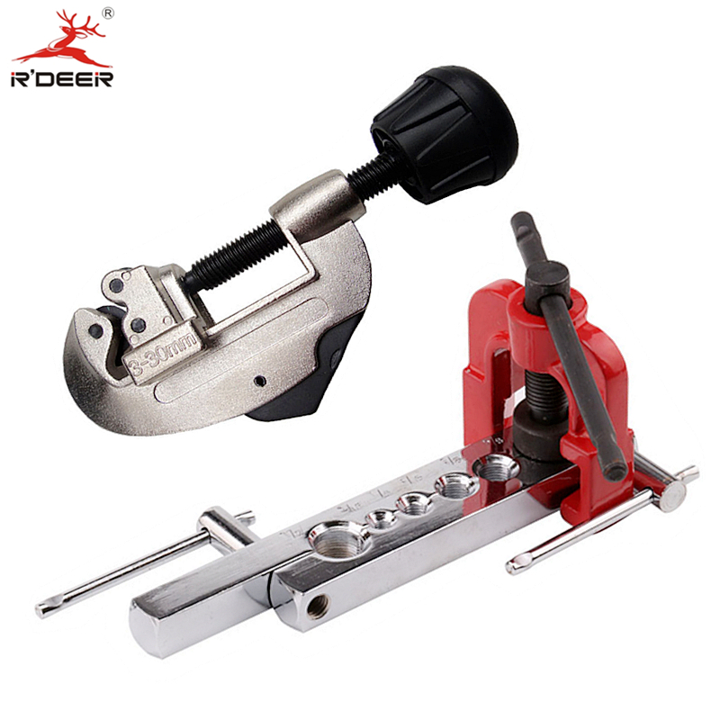 купить RDEER Pipe Cutter 3-30mm With Flaring Tool Manual Brass Tube Expander Expansion Mouthparts Reamer Wide Hole Devic Hand Tools онлайн