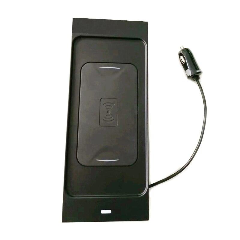 10 Вт QI Беспроводное зарядное устройство для мобильного телефона зарядное устройство Быстрая зарядка пластина держатель телефона Аксессуары для Volvo XC60 S90 V90 XC90 для iPhone - Название цвета: For XC60 2018 2019