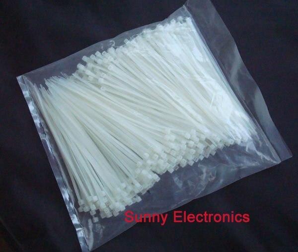 Wholesale 1000pcs White Self-Locking Nylon Cable Ties  3