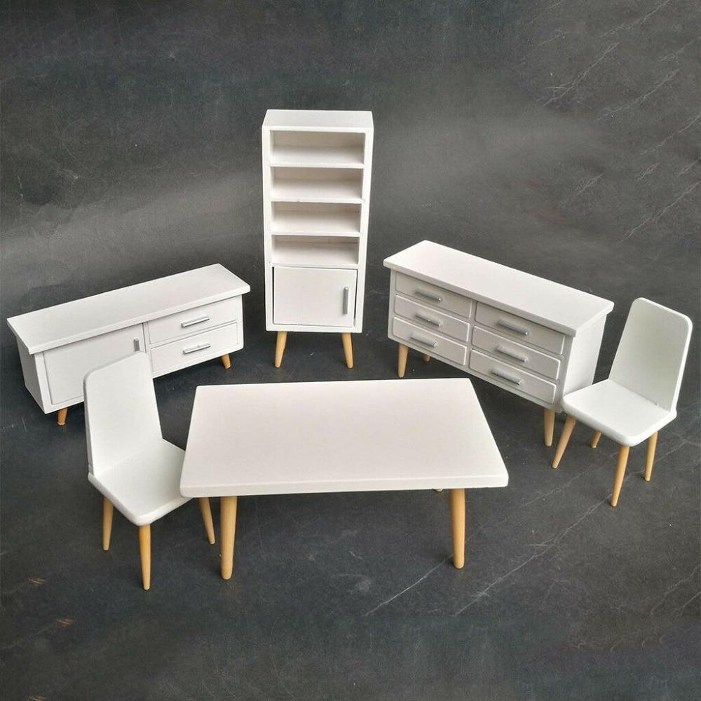 sala jantar mobiliario conjunto branco moderno conciso 05