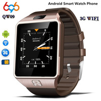 696 3G WIFI QW09 Android Smart Watch Bluetooth 4.0 Real Pedometer SIM Card Call Anti lost Smartwatch PK DZ09 GT08