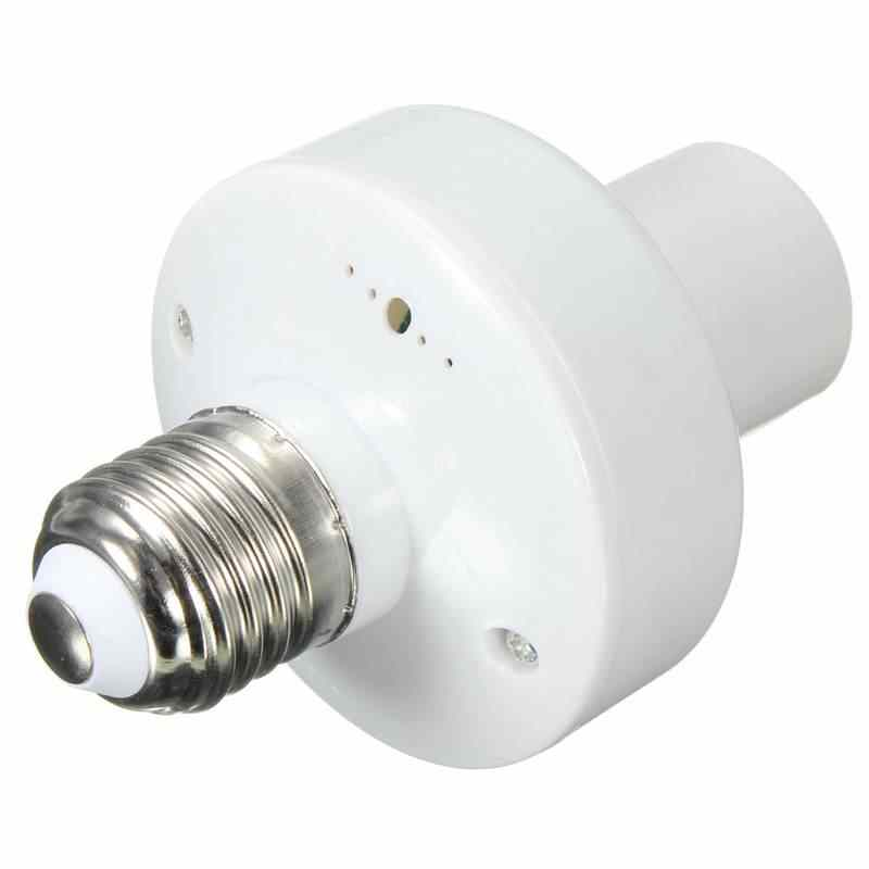Lamp Base E27 Socket Lamp Base Holder Bulb Light Adaptor With Switch Wireless Remote Control And Bracket 10m AC180~250V