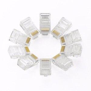 Image 3 - RJ45 connecteur Cat 6 Plug 8P8C modulaire réseau Ethernet LAN câble Cat 6 tête prise 20 pièces 50pcs 100 pièces RJ45 Cat6 sertissage connecteur
