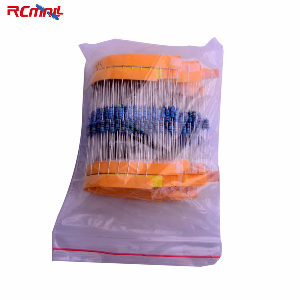 RCmall 1/4W 1% Accuracy Resistors Kit Metal Film Resistor Package 2o Kinds Normal Resistor Total 400pcs FZ1318