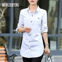 MJY Fashion White Shirt Women Work Wear Autumn Long Sleeve Quick Dry Slim Blouses Shirts Size