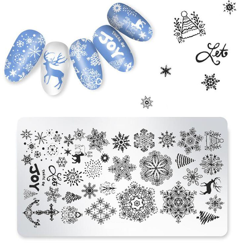 top 10 most popular christmas nail art stencils stamping