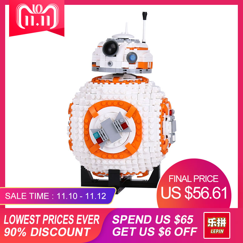 Lepin 05128 1238Pcs STAR The Double B 8 Robot Set Genuine Classic Series Model 75187 Building Blocks Bricks Christmas gifts WARS цена