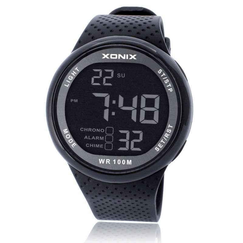 Hot XONIX Men Sports font b Watches b font Waterproof 100m Outdoor Fun Multifunction Digital font