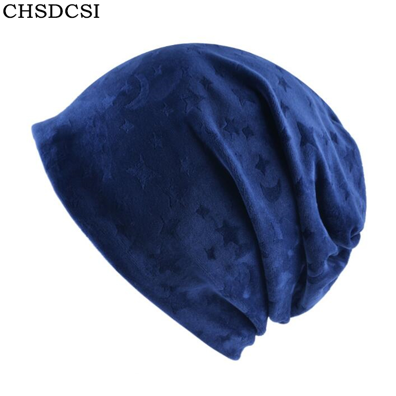 CHSDCSI 2017 New Winter Women's Hat Skullies Beanies Polyester Knitted Hats Beanie Hat Spring Casual Thick Velvet Women Warm Cap skullies