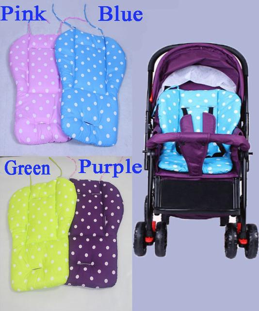 Cojín de algodón Del Cabrito Del Bebé Estera Cochecito Asiento De Punto Sólido Para cochecito de Bebé Cojín para Silla Cochecito Accesorios Púrpura Rosado Punto Azul diseño