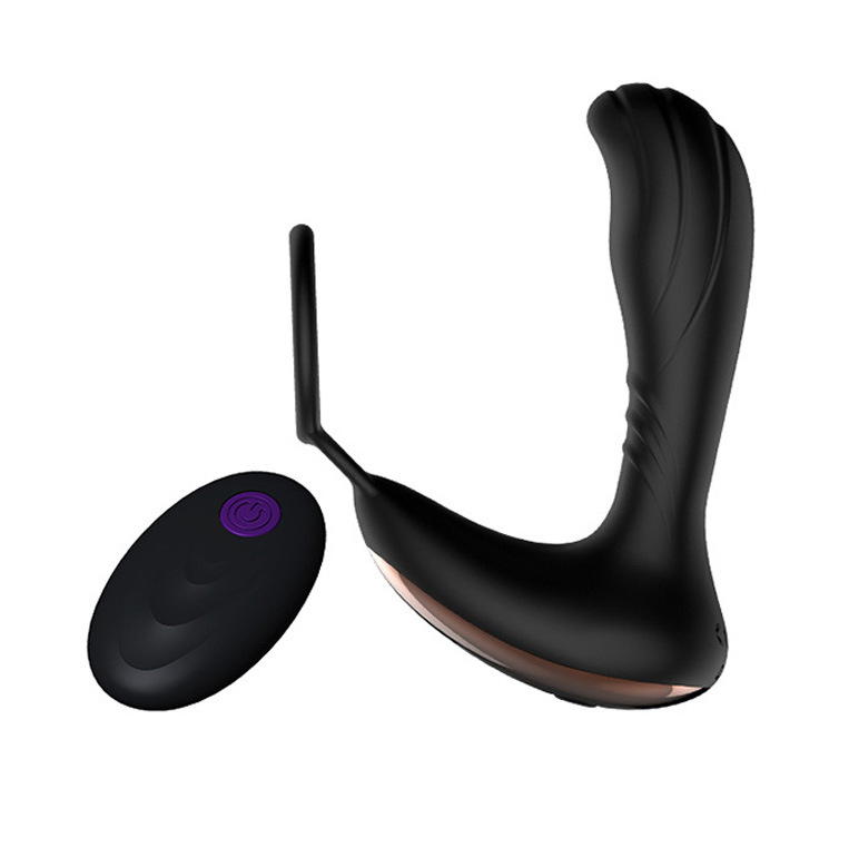 New Wireless Remote Control Prostate Massager Anal Prostata Vibrator Butt Plug for Gay Penis Ring Sex Toys for Men levett prostate massager wireless remote control anal douche vibrating butt plug prostata anal vibrator for men erotic toys